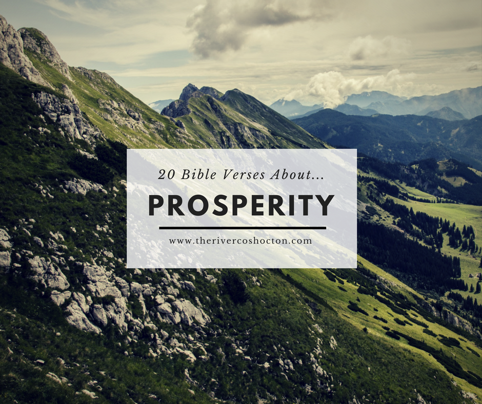 20 bible verses about prosperity the river church